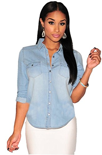 Anermy Fashion Button Sleeve Blouse product image