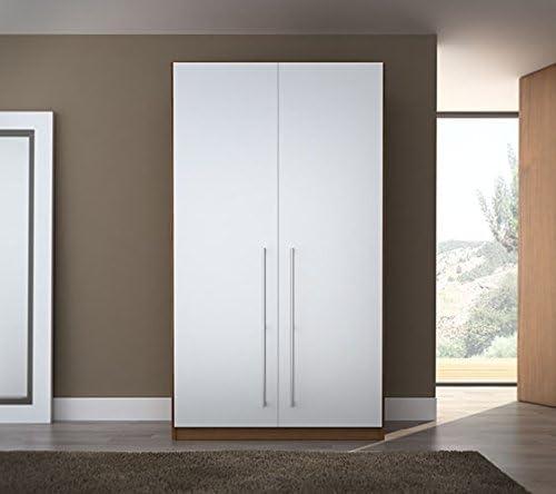 Armario de 2 puertas abatibles (Blanco): Amazon.es: Hogar