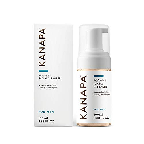 (Kanapa by Xtend-Life Foaming Facial Cleanser for Men. Dual Action Face Wash and Toner with Manuka Honey. (100 ml / 3.38)