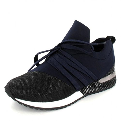 La Strada Sneaker, Farbe: Blue Lycra