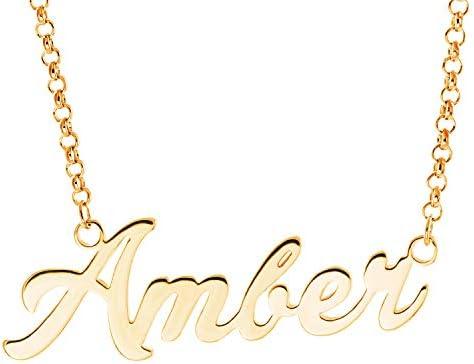 YINSHIFU Name Necklace Personalized Bridesmaid Necklace Custom Made Pendant Jewelry Platinum Plated