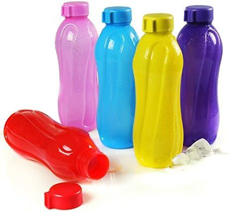Cello Aqua Cool Polypropylene Bottle Set, 1 Litre, Set of 5