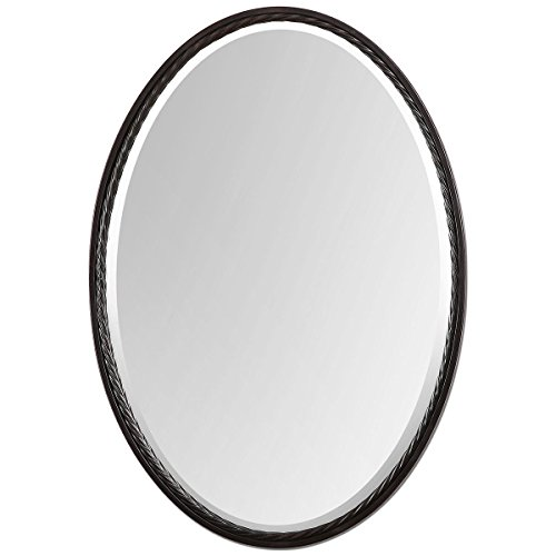 Uttermost 'Sherise' Oval Mirror - Brown