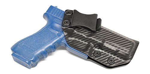 Concealment Express IWB KYDEX Holster: fits Glock 17 22 31 (CF BLK, RH) - Inside Waistband Concealed Carry - Adj. Cant/Retention - US Made