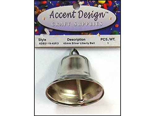 Accent Design-Basics ADB3119-45P.3 1 Piece Liberty Bell, 45mm, Silver (45p Pc)