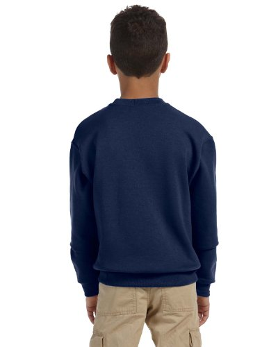 562B Jerzees Youth NuBlend® Crew Neck Sweatshirt (J Navy) (XL) (Jerzees 562b Sweatshirt)