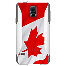 CUSTOM White OtterBox Commuter Series Case for Samsung Galaxy S5 - Red White Canadian Flag Canada