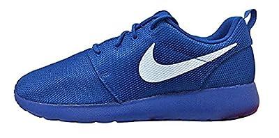 NIKE Men's Rosherun Running Shoe , Blue Jay/White/Hyper Violet , 8.5 D(M) US