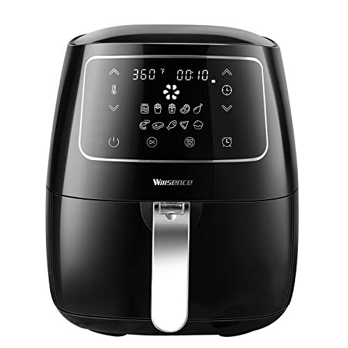 Air Fryer XL, Willsence Air Fryers 3.7-Quart Electric Oilless Hot Air-Fryer, Cooker with Cookbook and 50 Online Recipes, Touch Screen Control, Dishwasher Safe, Metal Inner Housing -