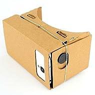 LUFA Résine lentilles Carton 3D VR lunettes de réalité virtuelle, Casque Film Jeu Vidéo VR Noir&21*8*9cm