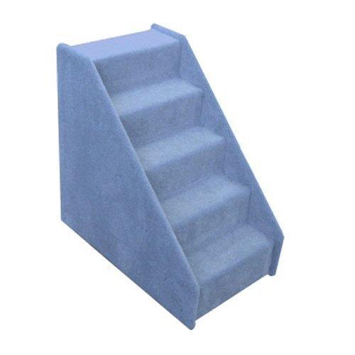Wide Mini Pet Stairs 5-Step (Blue , 26 in. H x 16 in. W x 26 in. D ), My Pet Supplies