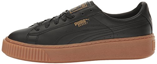 PUMA Women's Basket Platform Core Sneaker, Black Black,11.5 M US by PUMA (Image #5)