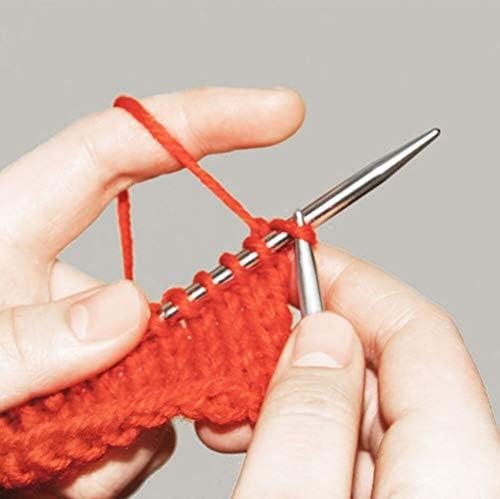 Artsiga Crafts Steelix 円形編み針 ステンレススチール 先端から先端までの長さ 40cm/16インチ 金属ケーブル ニードルゲージと再密封可能なポーチ付き Size 4.0mm/US 6 ARTC-444-16-4.0