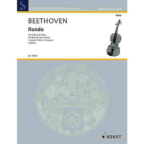 (Rondo (Viola and Piano) Schott Series Composed by Ludwig van Beethoven Arranged by Watson Forbes Pack of 3)