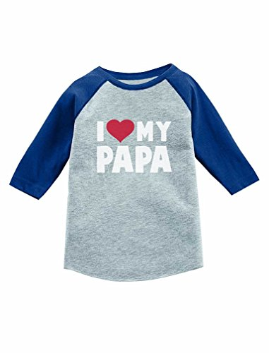 Father's Day Gift 3/4 Sleeve Baseball Jersey Toddler Shirt 4T Blue (Grandfather Baseball Jersey)