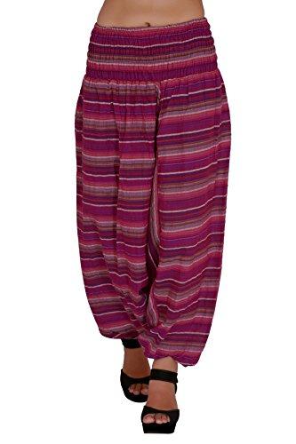 Jaipur Kala Kendra algodón Auto diseño de la mujer Harem Pantalones Baggy pantalones morado