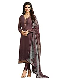 Royal Crepe Silk Embroidered Indian Pakistani Churidar Salwar Suit