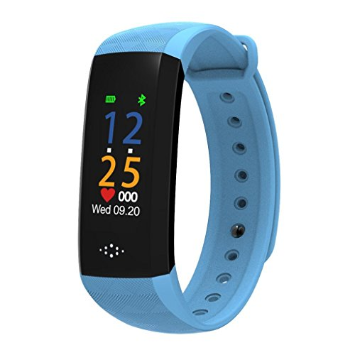 "HP95 M2P Fitness Tracker with Blood Pressure Blood Oxygen Heart Rate Sleep Monitor,Waterproof IP67 Colorful UI 0.96""OLED Smart Watch-Standby Time 7 Days (Blue) by HP95 (Image #3)"