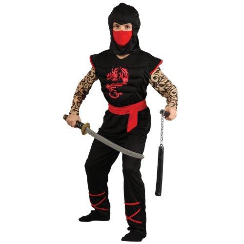 Kids Ninja Costume Uk (Muscle Ninja Warrior - Kids Costume 8 - 10 years)