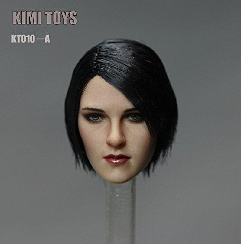 1/6 フィギュア 用 アクセサリー/KIMI TOYS フィメール 女性・ヘッド KT010-A (ブラックショットヘア)