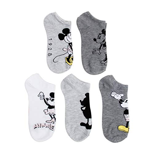 - Disney EST.1928 Mickey Mouse 5 Pk (5 Pair) No Show Socks
