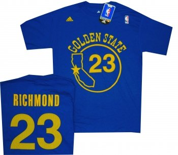 (Golden State Warriors Mitch Richmond Throwback Adidas Royal Blue Shirt (Small))