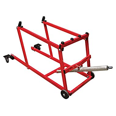 Extreme Max 5800.1066 PRO Snowmobile Lift with Wheel Kit, Red