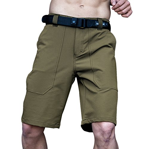 Shorts Stretch Deep Pocket SOLDIER Men's Short 1 2 Workwear Breathable Waterproof green Dark Scrubs Tactical Cargo Fabric FREE SZYxw