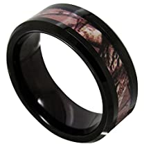NELSON KENT Tungsten Mens Carbide Ring Camo Camouflage Hunting Wedding Band