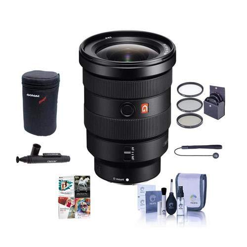 Sony FE 16-35mm f/2.8 GM (G Master) E-Mount NEX Camera Lens - Bundle with 82mm Filter Kit, Lens Case, Cleaning Kit, Capleash II, Lenspen Lens Cleaner, PC Software Package