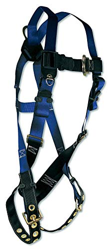 (FallTech 7016 Contractor Full Body Harness with 1 D-Ring and Tongue Buckle Leg Straps, Universal Fit)