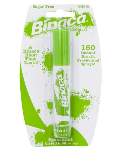 Binaca breath spray, spearmint - 0.2 oz (Pack of 6) DF81108