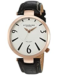Stuhrling Original Men's 151.04 Symphony Surmount Analog Display Swiss Quartz Brown Watch