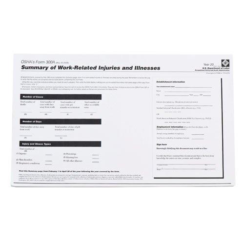Osha Form 300a - Brady OR300A, 45674 Osha 300A Forms, (12 Packs of 25 pcs)