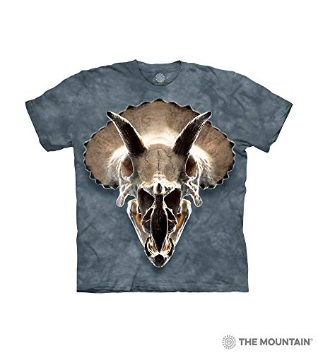 The Mountain Triceratops Skull Child T-Shirt, Blue, XL