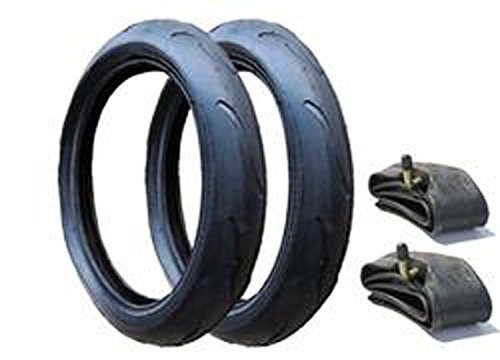 2 x NEW PHIL AND TEDS VIBE 300 x 55 TYRES AND INNER TUBES SET (ANGLED VALVE) Rubena