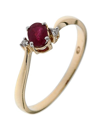 Bague Or 750 Rubis ref 42612