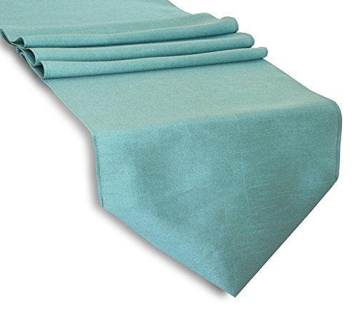 Aiking Home 13x 36 Classic Solid Table Top Runner - Aqua