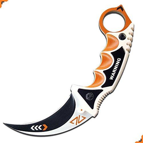 Knivesmatter Custom csgo Karambit Knife, 3rd Gen, Full Tang (Asiimov)