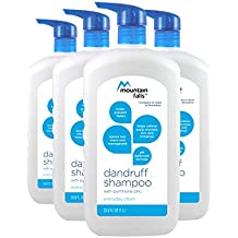 Mountain Falls Dandruff Shampoo, Everyday Clean, Pump Bottle, Compare to Head & Shoulders, 33.77 Fluid Ounce (Pack of 4)