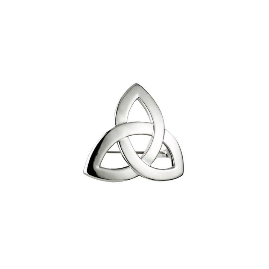 Rhodium Irish Trinity Knot Ladies Brooch by Solvar