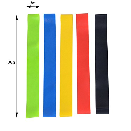 Asien Exercise Resistance Loop Bands 24 inch Workout Bands Best Fitness Band for Stretching, Physical Therapy, Yoga and Home Fitness