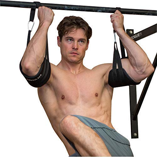 LEBBOULDER Padded Abdominal Hanging Exercise Straps for Home and Gym for Men and Women (Black)