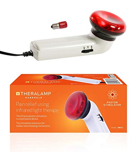 Red Light Therapy Infrared Heating Wand by Theralamp - Hand Held Heat Lamp with Replacement Bulb - Muscle Pain Relief, Increased Blood -