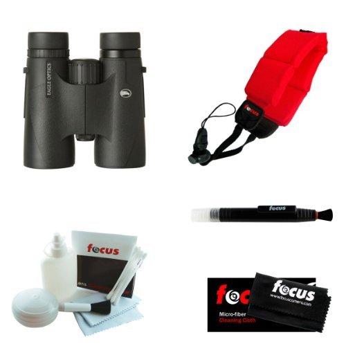 (Eagle Optics Denali 8x42 Roof Prism Binoculars with Focus Foam Float Strap (R.)