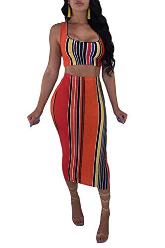 crop top pencil skirt set - 4