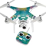 Cheap MightySkins Protective Vinyl Skin Decal for DJI Phantom 3 Standard Quadcopter Drone wrap Cover Sticker Skins Watercolor Blue