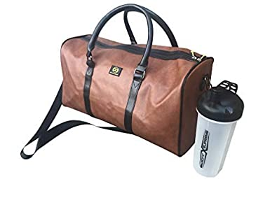 Image Unavailable. Image not available for. Colour  Soft Travel And Sports Gym  Leather Duffle Bag 40L by Dapper ... 3d60b122869f6