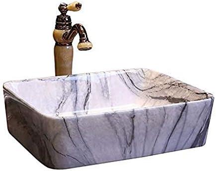 セラミック洗面台浴室アート盆地洗面台のバスルームシンクの上バスルーム長方形マーブル