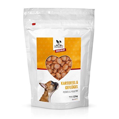 Dogs-Heart Geflügel & Kartoffel 1,5kg | mit hohem Fleischanteil | getreidefreies und hypoallergenes Hunde-Trocken-Futter